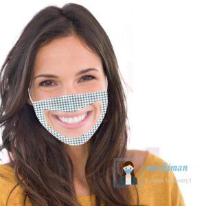 خرید ماسک پارچه ای با طلق شیشه ای شفاف در جلوی دهان