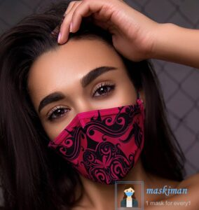 خرید ماسک پارچه ای طرح دار 3