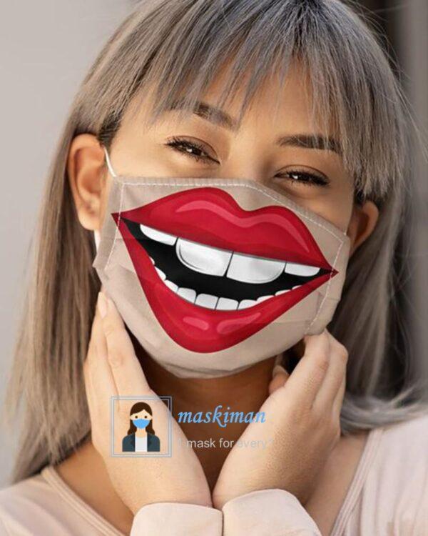 ماسک طرح لبخند بزرگ 3