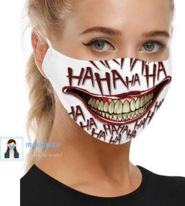 خرید ماسک پارچه ای طرح لبخند 3