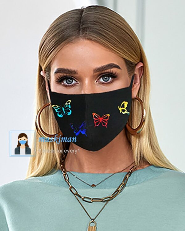 ماسک پارچه ای طرح پروانه