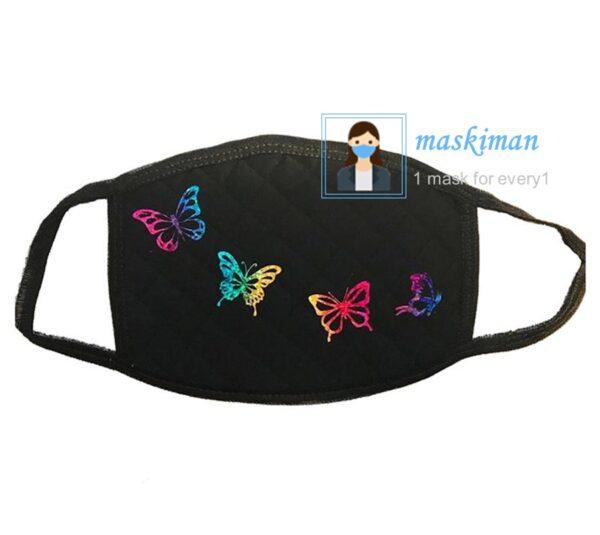 lماسک پارچه ای طرح پروانه 3